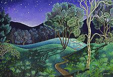 Moonlight on the River Road by Wynn Yarrow (Giclee Print)