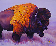 Buffalo Flower by Ritch Gaiti (Oil Painting)