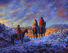 The Quest for Sunshine Canyon by Ritch Gaiti (Oil Painting)