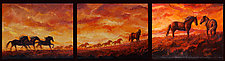Under the Persimmon Sky by Ritch Gaiti (Oil Painting)