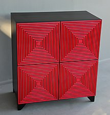 Maze Cabinet Console by Kevin Irvin (Wood Cabinet)