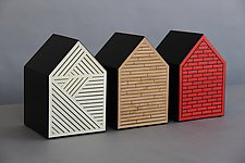 The Three Little Pigs (Architecture 101) by Kevin Irvin (Wood Wall Sculpture)