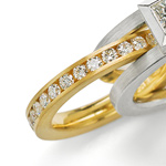 Parallel Ring & All Around Band by Catherine Iskiw (Gold & Stone Rings)