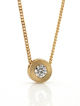 Torno Small Pendant by Catherine Iskiw (Gold and Stone Pendant)