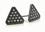 Tri Large Stud by Catherine Iskiw (Silver & Stone Earrings)