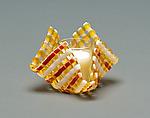 Glass Candleholder: Amber Stripe by Ed Edwards (Art Glass Candleholder)