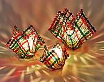 Christmas Confetti Glass Candleholder by Ed Edwards (Art Glass Candleholder)