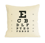 Eye Chart Pillow by Heather Lins (Fiber Pillow)