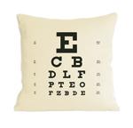 Eye Chart Pillow by Heather Lins (Fiber Pillow)
