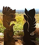 Ancient Friends by Aaron T. Brown (Steel Sculpture)