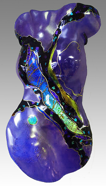 Small Female Torso in Cobalt Blue: Karen Ehart: Art Glass Sculpture - Artful Home from artfulhome.com