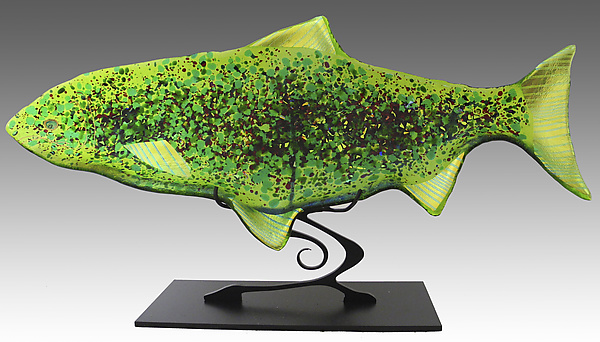 Fish Sculpture on Stand