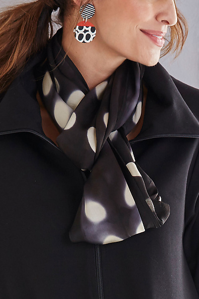 Flat Silk Dot Scarf