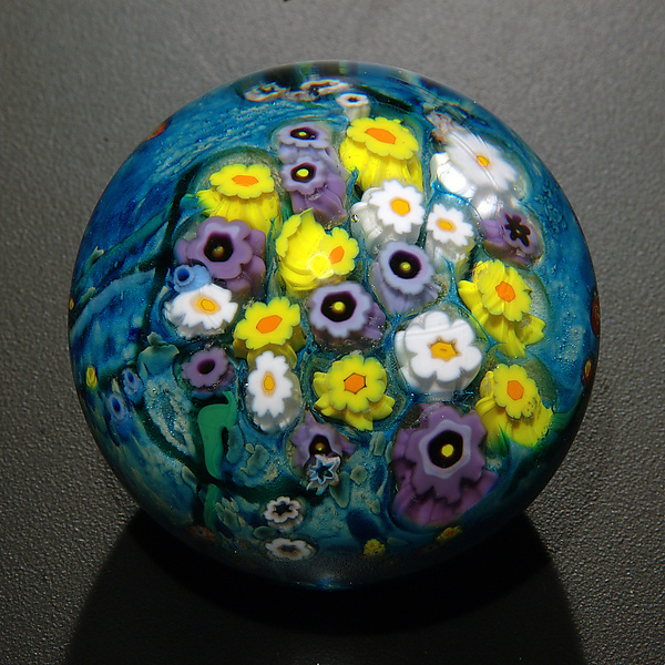 Landscape Series Paperweight Daisy, Hippie Daisy, Violet