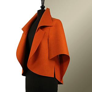 TM 5: Teresa Maria Widuch: Fiber Vest - Artful Home :  shopping women felt orange