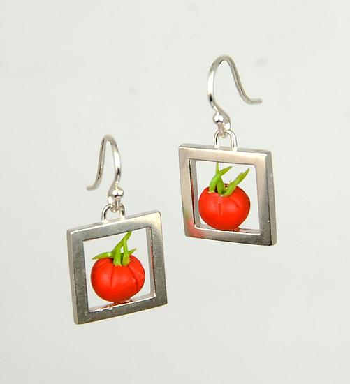 Tomato Crate Earrings