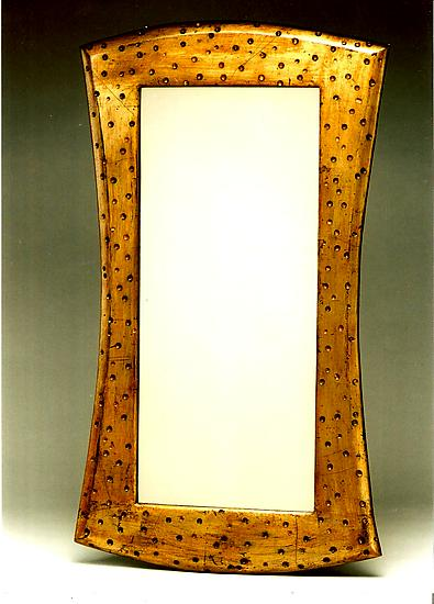 Gold Leaf Mirror with Scoops