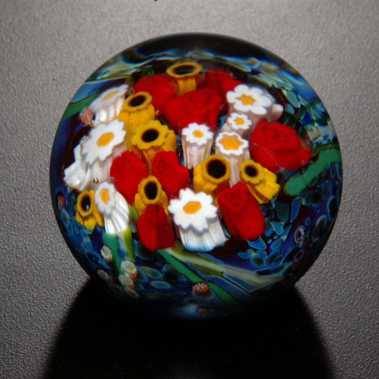 Landscape Series Rose Sunflower Paperweight