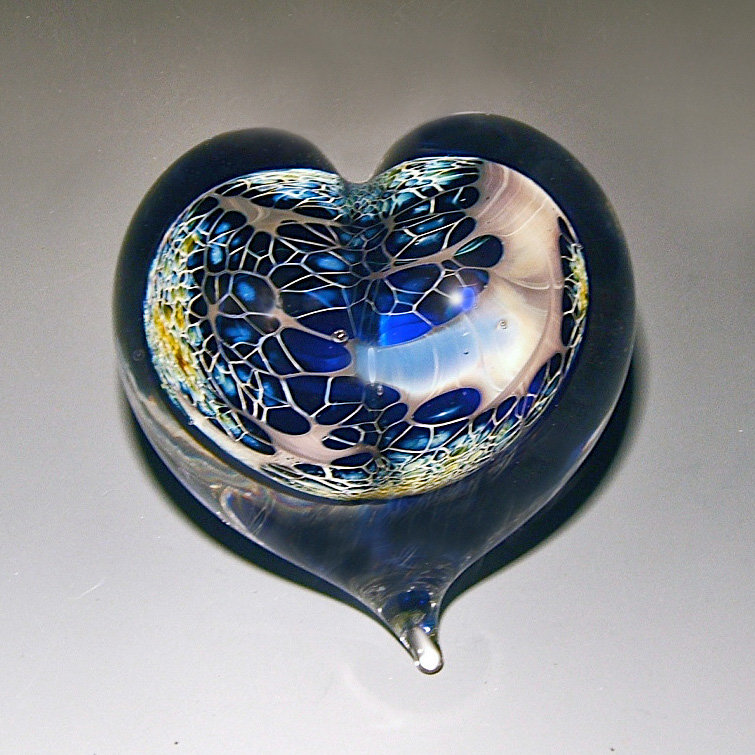 Galaxy Heart Paperweight