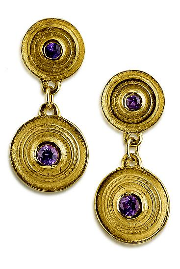 Sapphire Facades Double Medallion Earrings