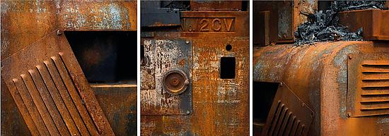 Triptych of Burned Machinery #2