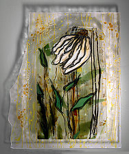 Wind in the Garden by Alice Benvie Gebhart (Art Glass Wall Sculpture)
