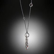 Long Night Story Necklace by Aleksandra Vali (Gold, Silver & Stone Necklace)