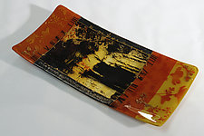 Serving Up Yesteryear II by Alice Benvie Gebhart (Art Glass Tray)