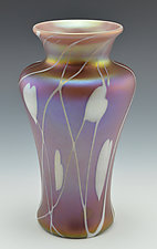 Private Collection, Mauve Vase II by Donald  Carlson (Art Glass Vase)