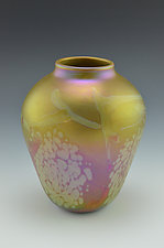 Private Collection Gold Vase by Donald  Carlson (Art Glass Vase)