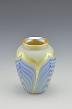 Miniature Private Collection White Vase II by Donald  Carlson (Art Glass Vase)