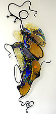 Cluster by Karen Ehart (Art Glass Wall Sculpture)