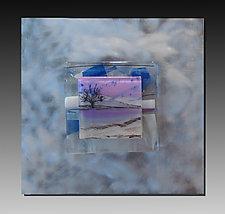 Magenta Scene by Alice Benvie Gebhart (Art Glass Wall Sculpture)
