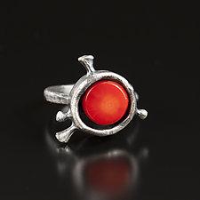 Rosehip Mood Ring by Aleksandra Vali (Silver & Stone Ring)