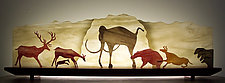 Carnival of the Cave Animals by Bernie Huebner and Lucie Boucher (Art Glass Sculpture)