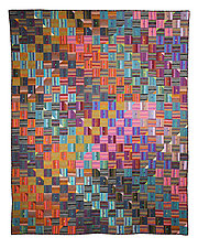 At Cross Purposes by Kent Williams (Fiber Wall Hanging)