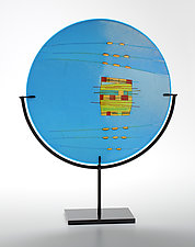 Turquoise Window by Lynn Latimer (Art Glass Sculpture)