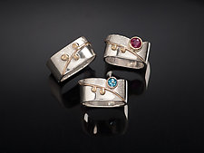 Blossom Rings by Chi Cheng Lee (Gold, Silver, & Stone Ring)