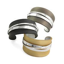Wrapped Cuff by Debra Adelson (Silver & Acrylic Bracelet)