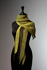 Silk Single Pleat Scarf in Apple and Black by Laura Hunter  (Silk Scarf)