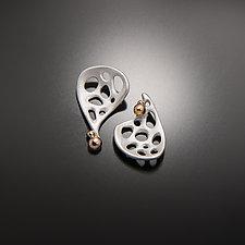 Recollection Earrings by Aleksandra Vali (Gold & Silver Earrings)