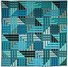 Blue Ribbon by Kent Williams (Fiber Wall Hanging)