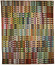 Checks Mix by Kent Williams (Fiber Wall Hanging)