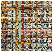 Grid Plan by Kent Williams (Fiber Wall Hanging)