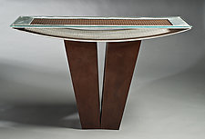 Bowed Table by Jeffrey Brown (Metal Console Table)