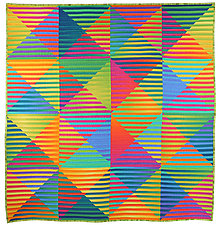 Secret Note Square by Kent Williams (Fiber Wall Hanging)