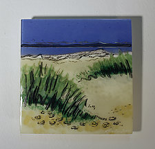 Dunes at Dawn: Miniature by Alice Benvie Gebhart (Art Glass Wall Sculpture)