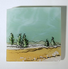 Winter's Thaw in Miniature by Alice Benvie Gebhart (Art Glass Wall Sculpture)