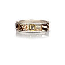 Davenport Nadine by Lynda Bahr (Gold, Silver & Stone Ring)