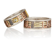 Davenport  Duo by Lynda Bahr (Gold, Silver & Stone Ring)
